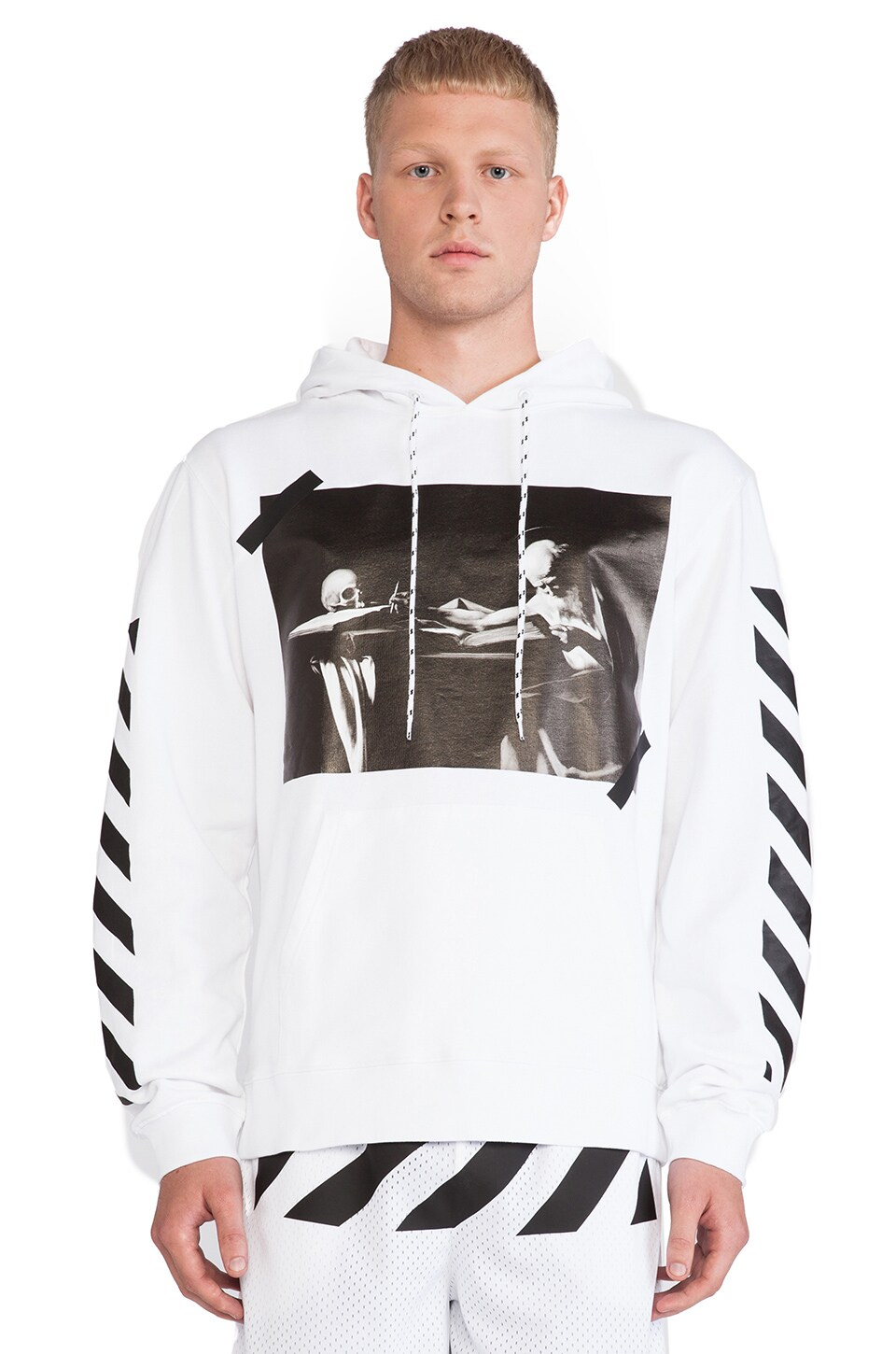 OFF-WHITE Graphic Hoodie in White