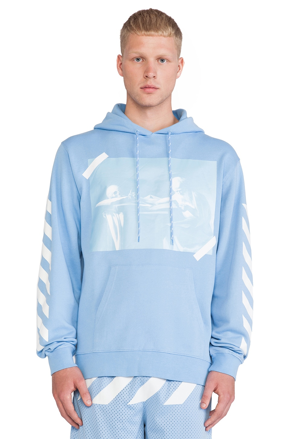 OFF-WHITE Graphic Hoodie in Blue