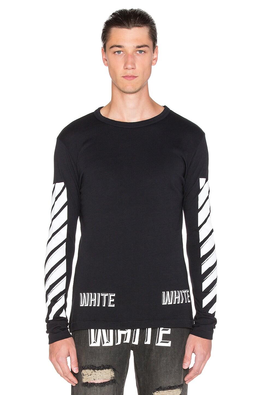 381d65778 OFF-WHITE 3D White Long Sleeve Tee in Black & White   REVOLVE