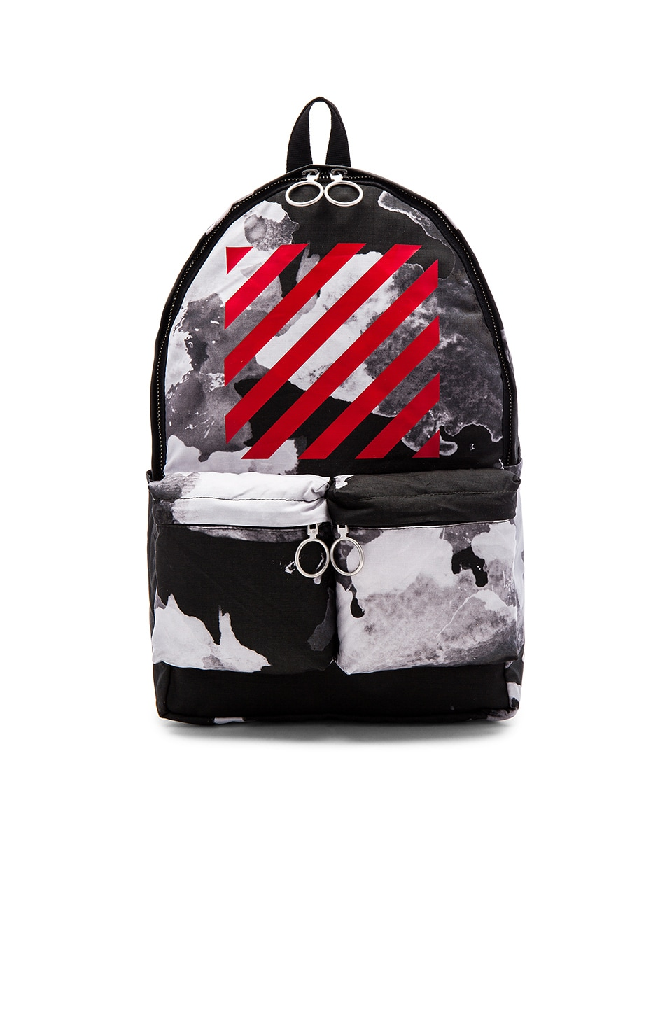 OFF-WHITE Liquid Spots Backpack in All Over Red