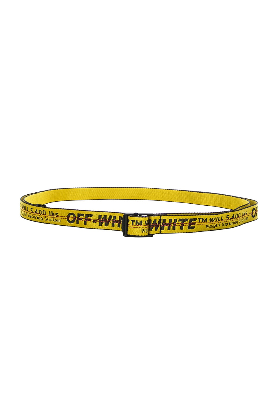 OFF-WHITE Mini Industrial Belt in Yellow & Black