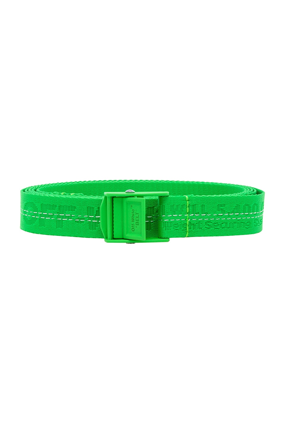 OFF-WHITE Mini Industrial Belt in Transparent & Brilliant Green