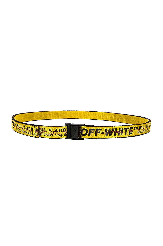 OFF-WHITE Mini Industrial Belt In Yellow & Black | REVOLVE