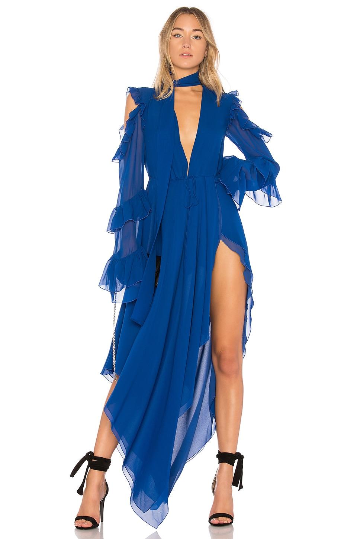 OFF-WHITE Belt Neck Dress in Blue
