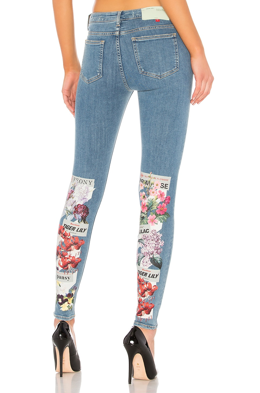 Diagonal Flower Shop Skinny jean