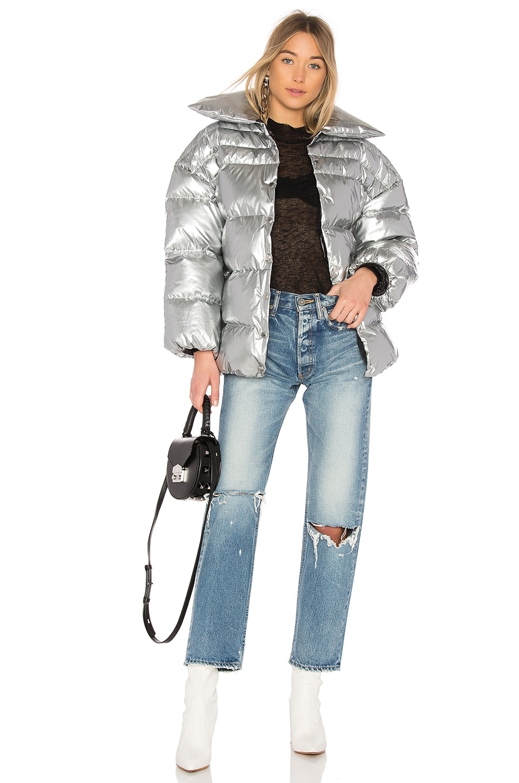 OFF-WHITE Medium Puff Jacket in Medium Grey