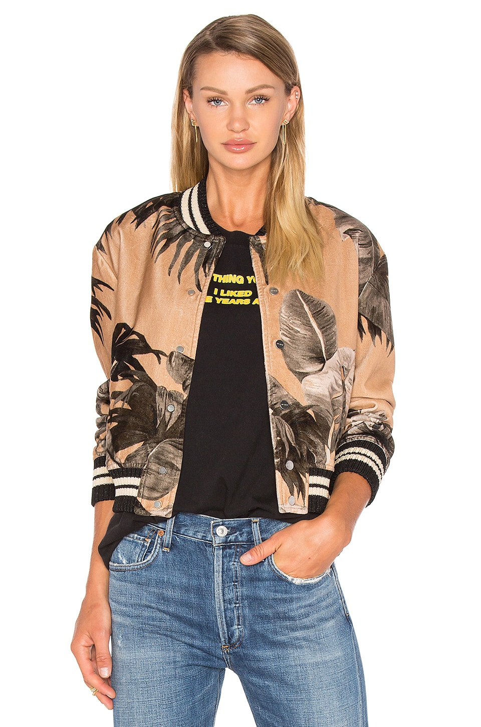 Banana Leaf Varsity Jacket by OFF-WHITE