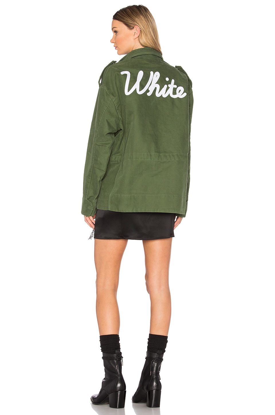 OFF-WHITE Vintage White M65 Jacket in Military Green