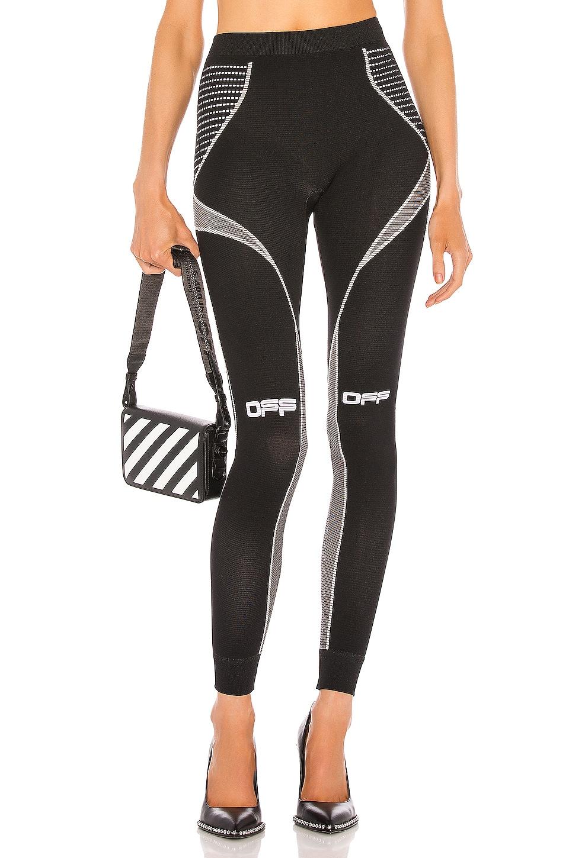 OFF-WHITE Active Arrow Leggings en Black & White