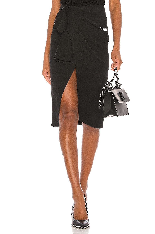 OFF-WHITE Wrap Skirt in Black