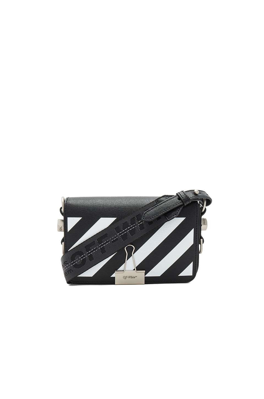 White Diagonal Mini Binder Clip Flap Bag Off-white Prices Online Sale Big Sale Outlet Locations BIhJNGwd4