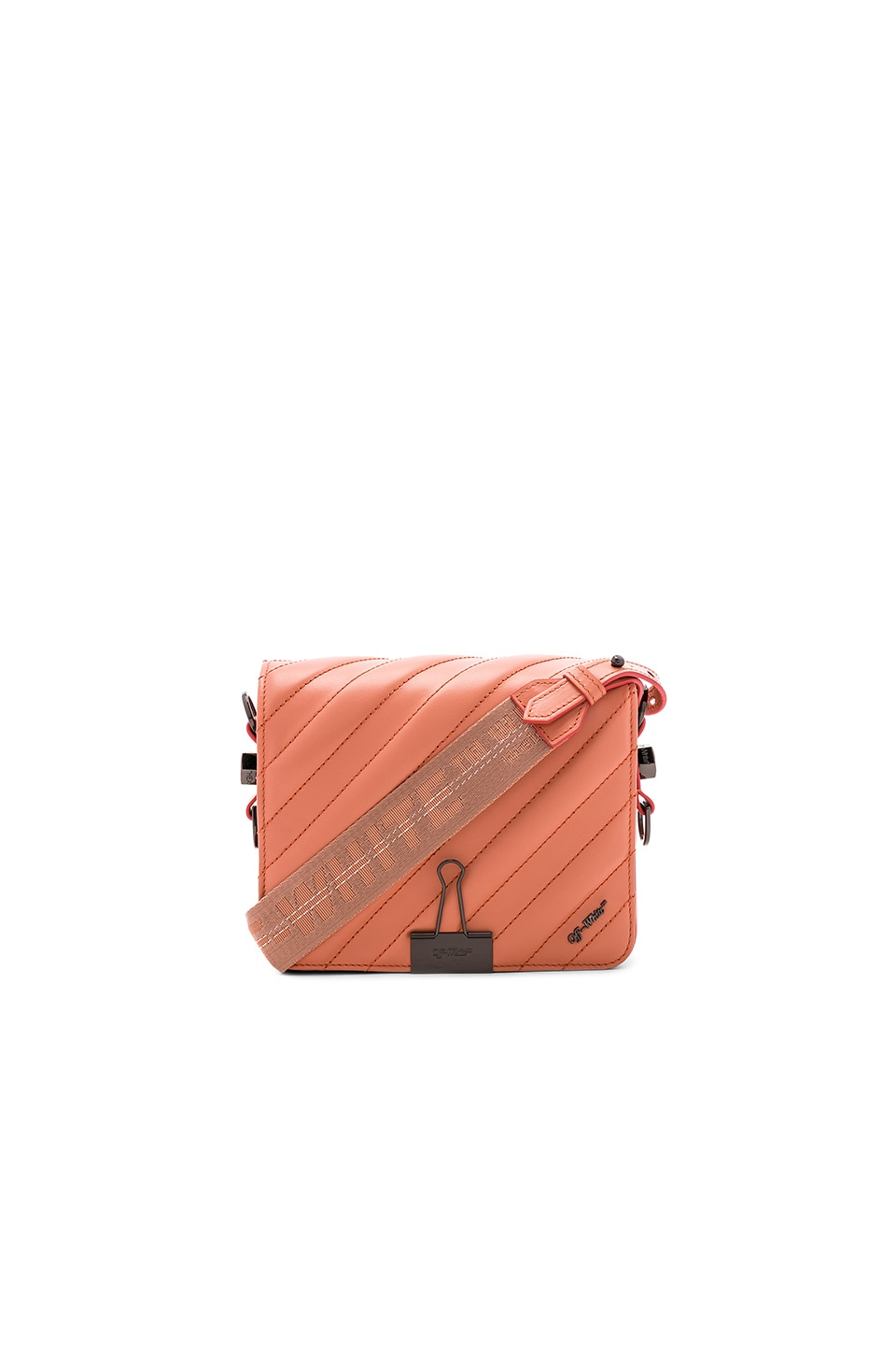 Diagonal Quilted Flap Bag