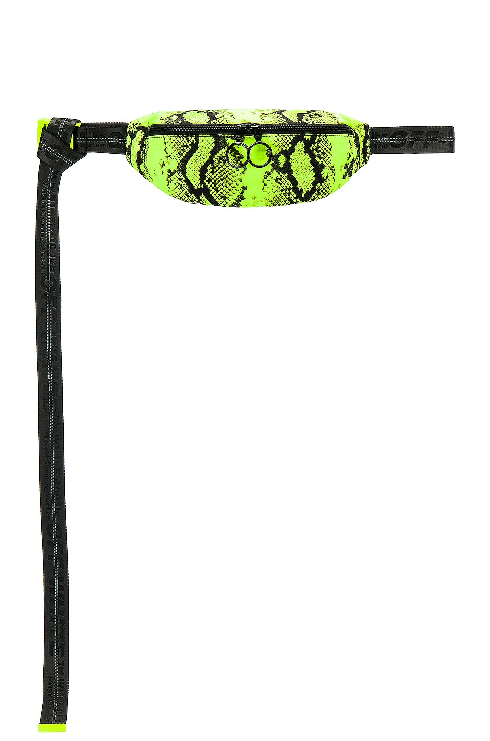 OFF-WHITE Python Nylon Fanny Pack in Fluorescent Yellow