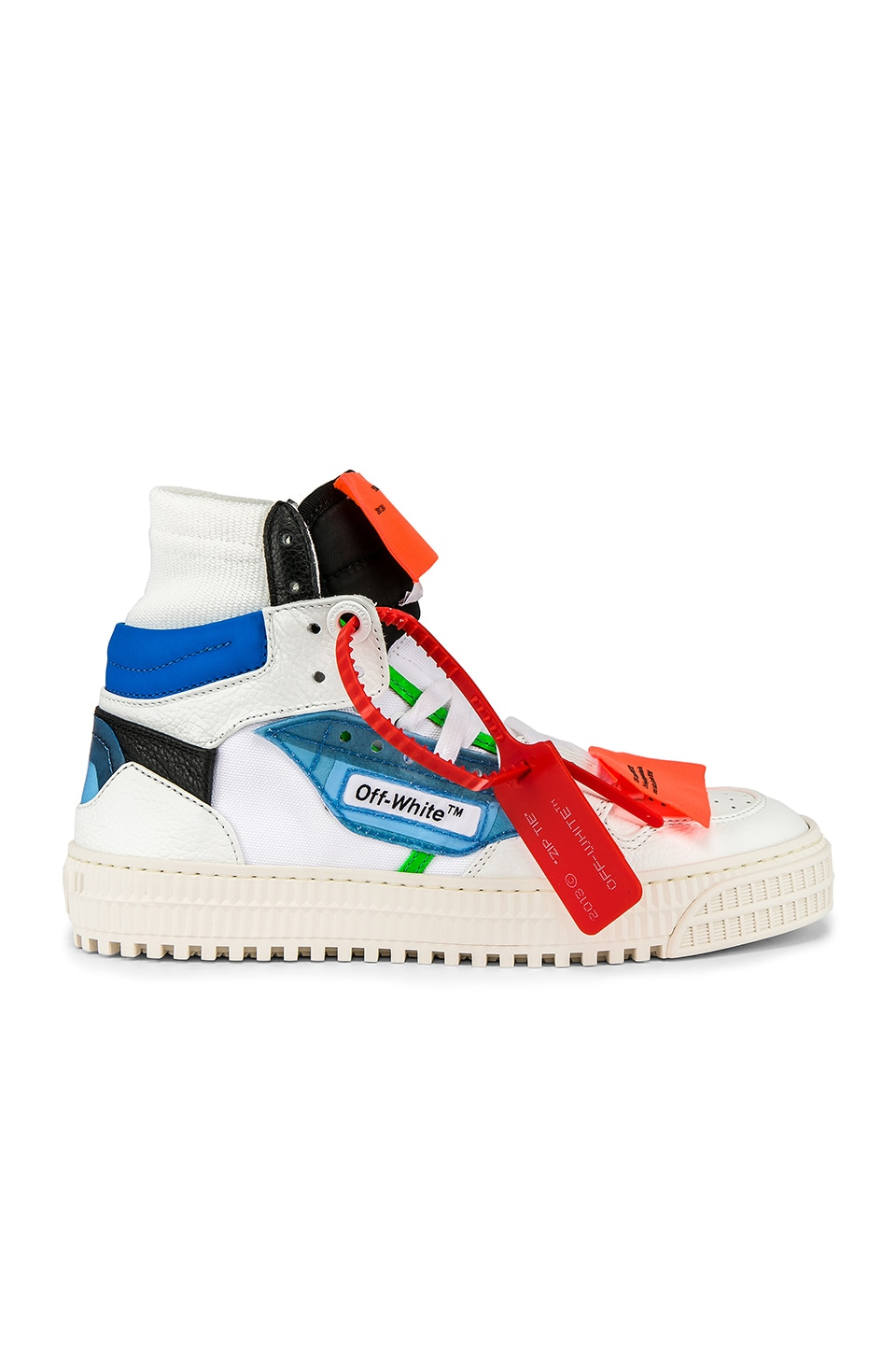 OFF-WHITE Off Court Sneaker in White & Blue