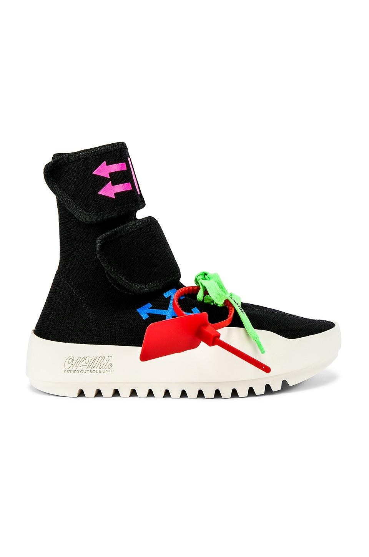 OFF-WHITE Moto Wrap Sneaker in Black Multicolor