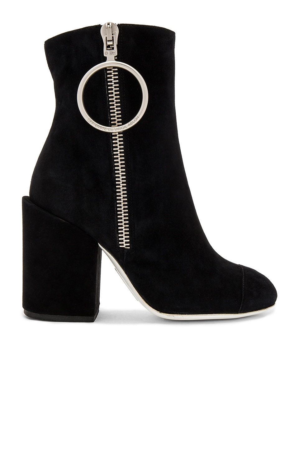 OFF-WHITE Suede Ankle Boots in Black