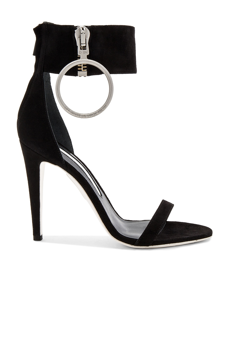 OFF-WHITE Zipped High Sandal Heel in Black
