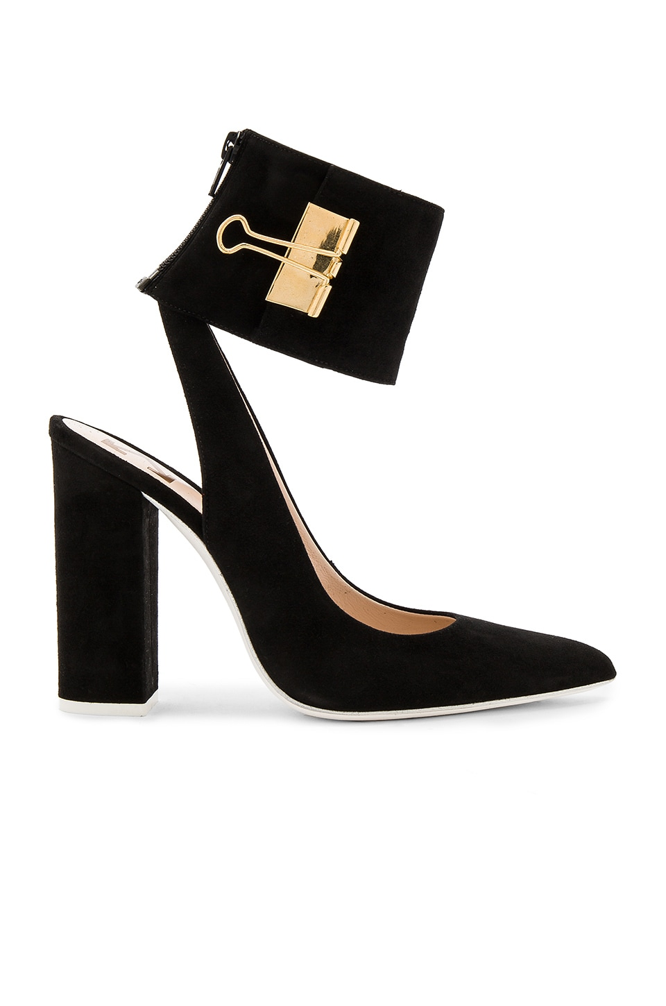 OFF-WHITE Pump Big Heel in Black & Gold