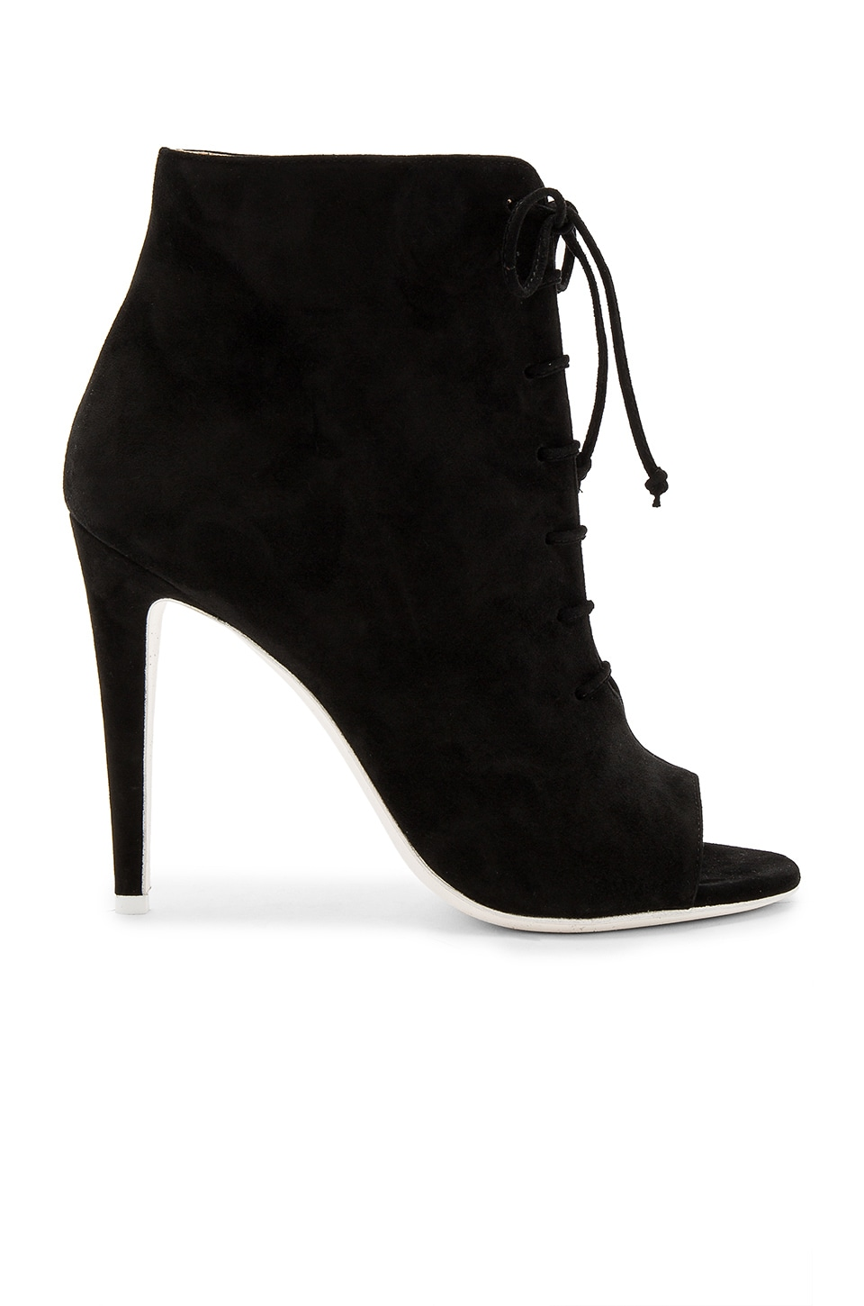 OFF-WHITE Open Toe Bootie in Black
