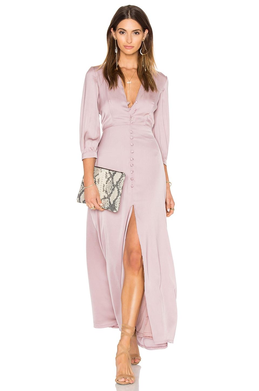 OH MY LOVE 3/4 Sleeve Maxi Tea Dress in Mink