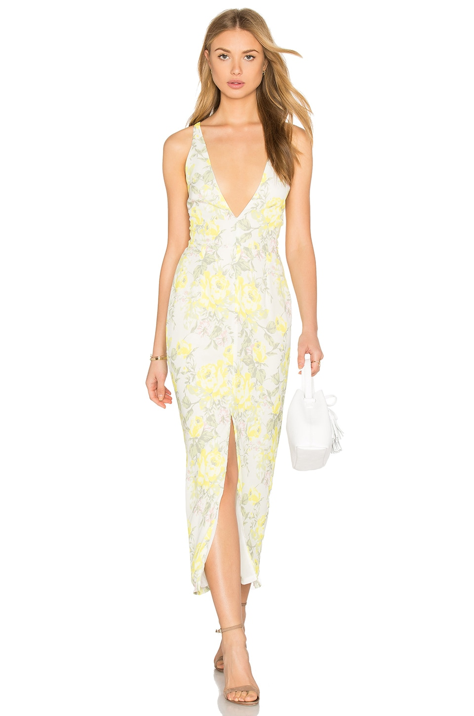 Oh My Love Maxi Plunge Dress In Summer Bloom Revolve