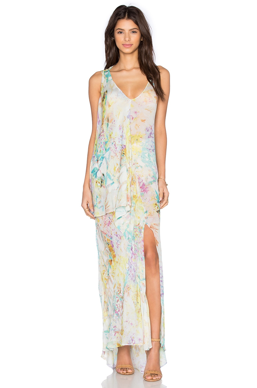 OLCAY GULSEN Botanic Print Maxi Dress in Botanic Print