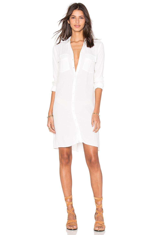 OLCAY GULSEN Shirt Dress in Off White