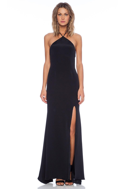 OLCAY GULSEN Halter Gown in Black