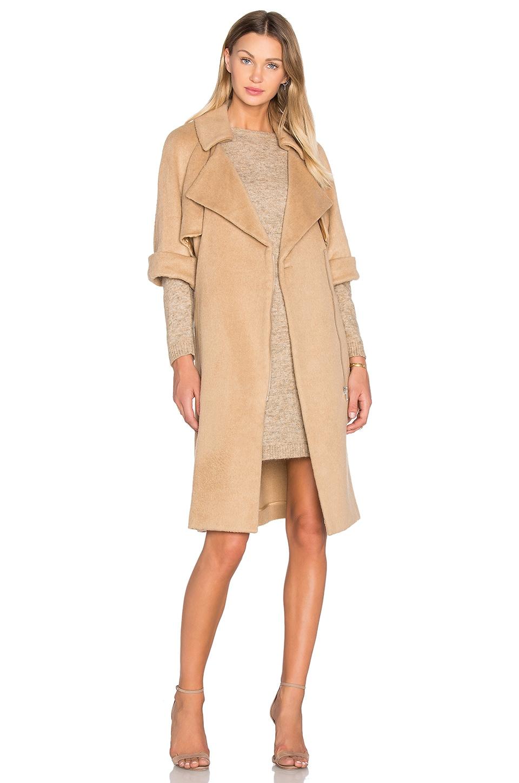 bb416593cc6 OLCAY GULSEN Short Sleeve Flap Coat in Ginger