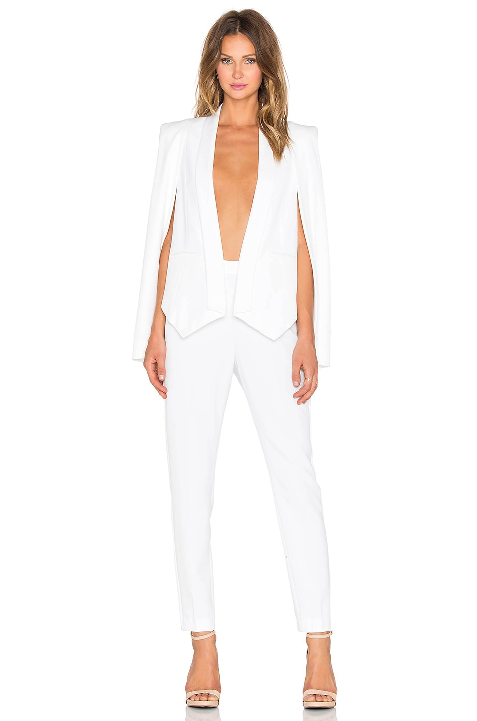 White Jumpsuit With Cape