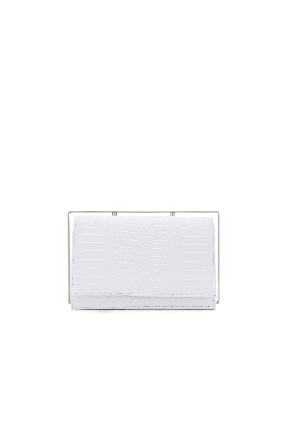 OLCAY GULSEN Frame Clutch Structure in Nude & White