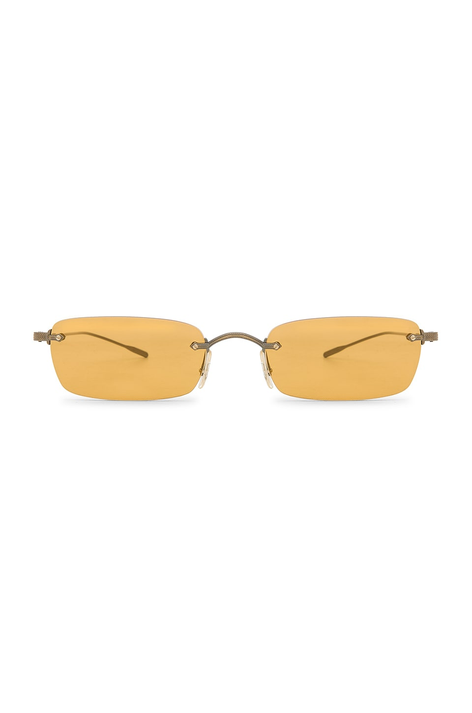 Oliver Peoples Daveigh in Antique Gold & Mustard