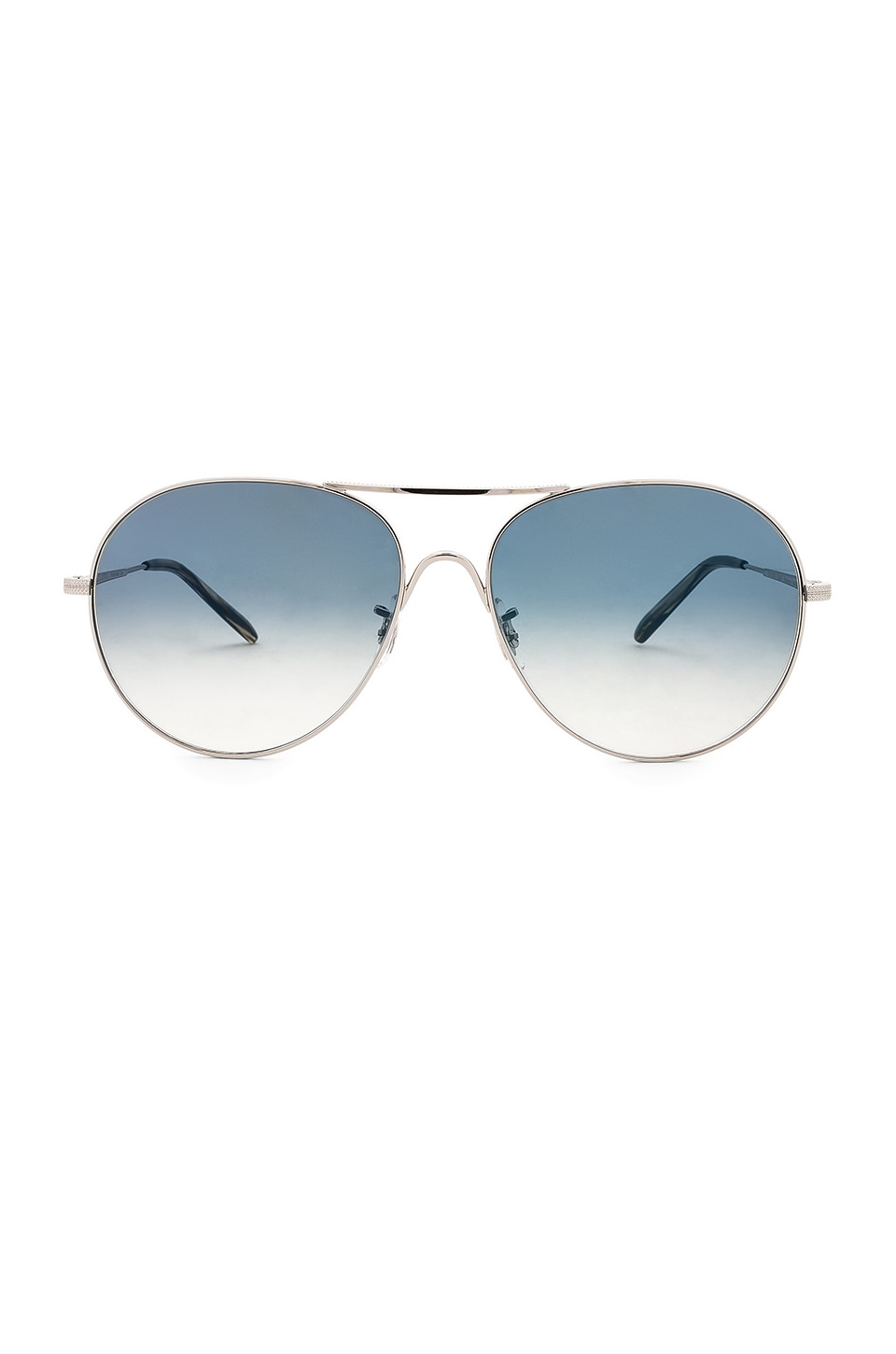 Oliver Peoples Rockmore in Silver & Chrome Sapphire