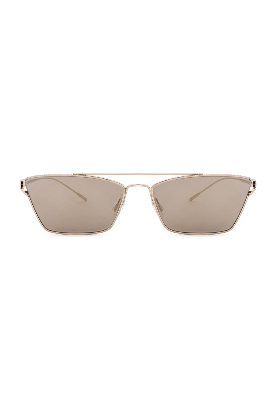 Oliver Peoples Evey in Gold & Taupe Flash Mirror