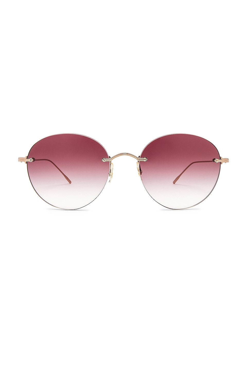 Oliver Peoples Coleina in Rose Gold & Magenta Gradient