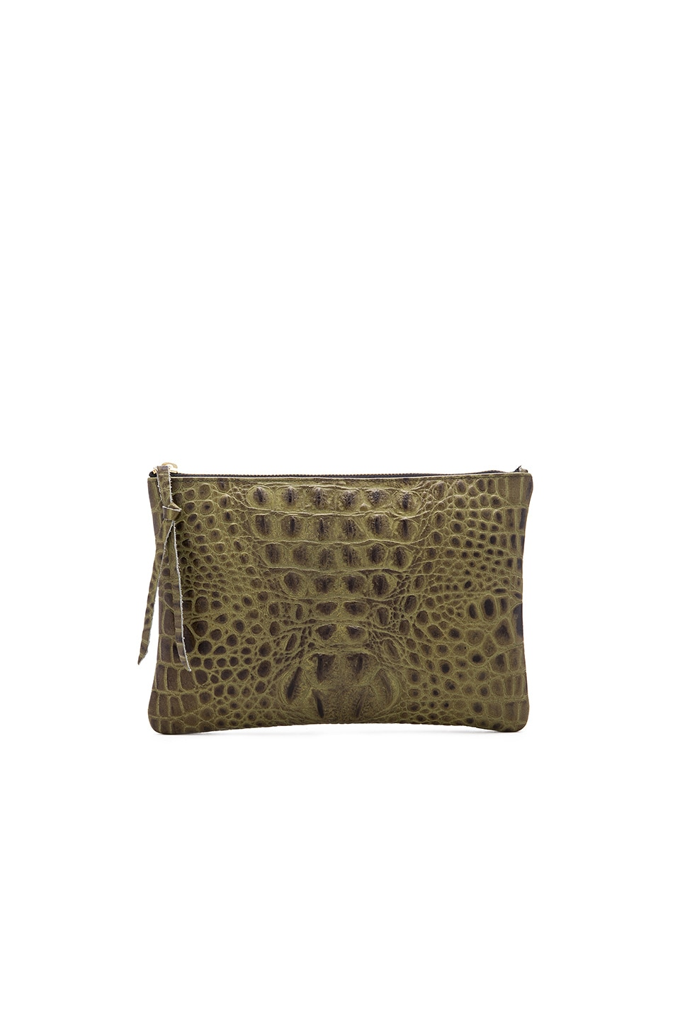 Oliveve Queenie Clutch in Olive
