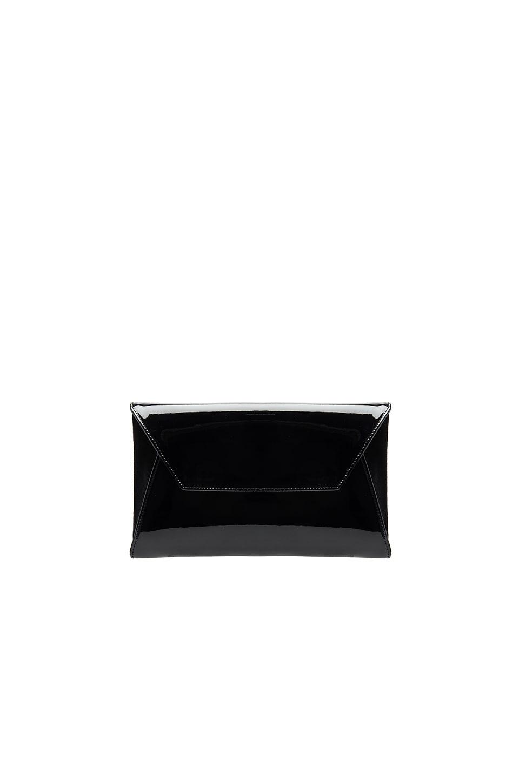 Oliveve Cleo Envelope Clutch in Black Patent