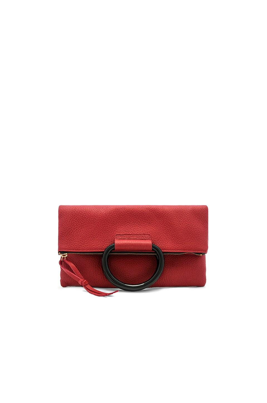 Oliveve Jolie Clutch in Crimson & Black