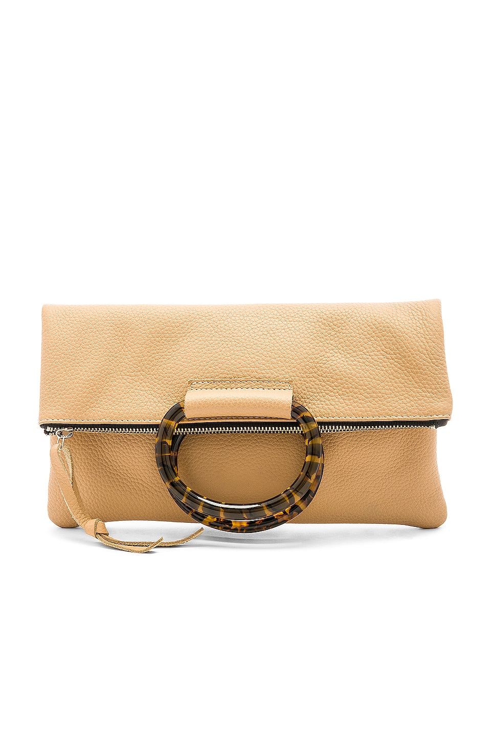 Oliveve Jolie Clutch in Oatmeal