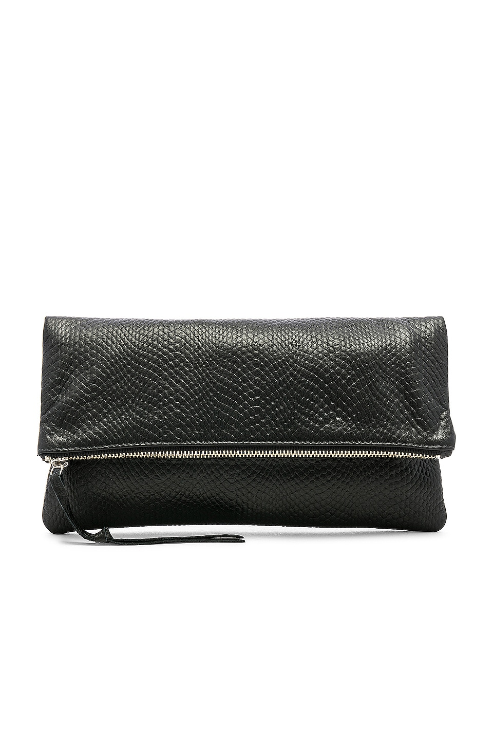 Oliveve Anastasia Clutch in Black Snake