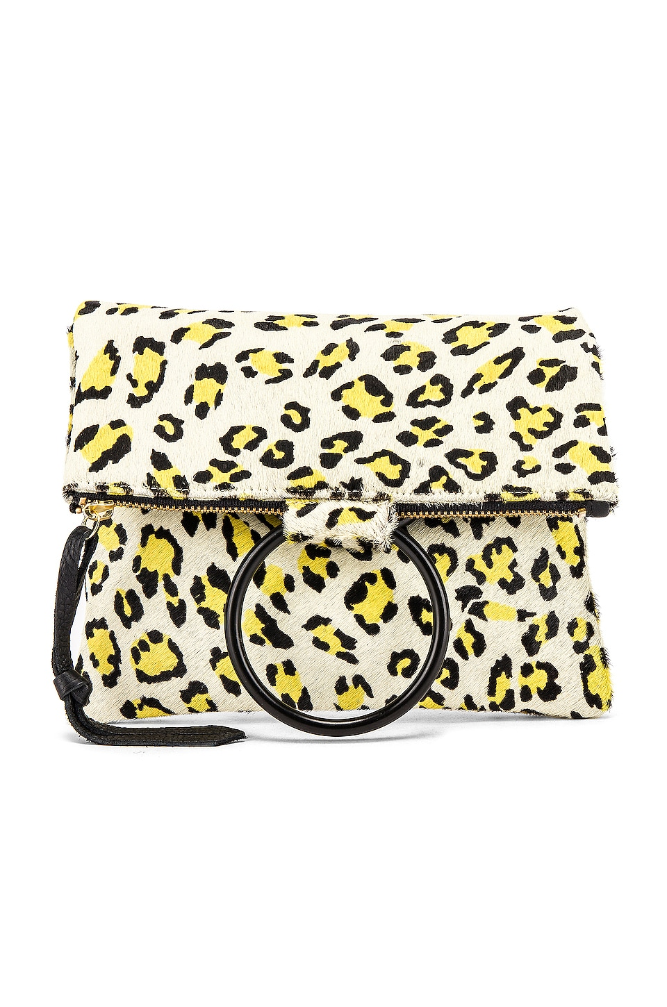 Oliveve Laine Ring Bag in Citron Leopard