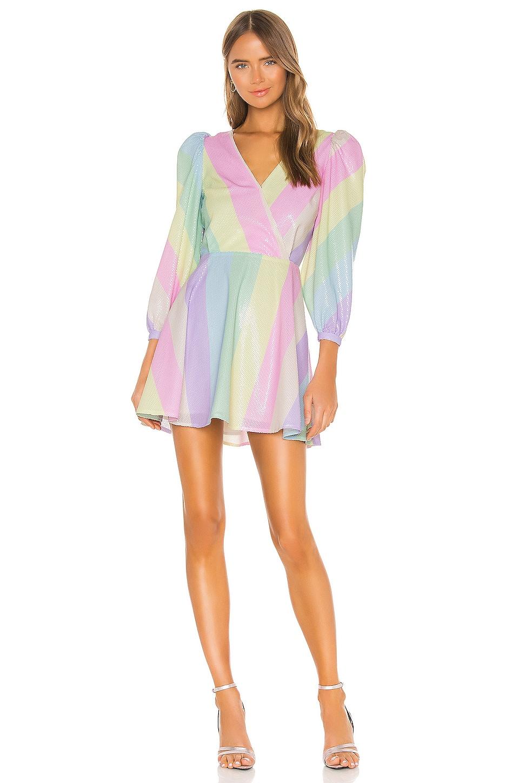 Olivia Rubin Amber Dress in Neapolitan Stripe