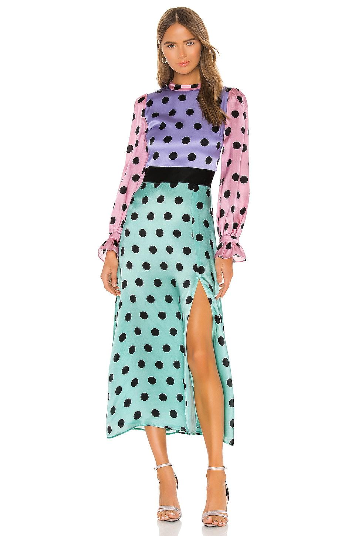 Olivia Rubin Marley Dress in Polka Dot Mix