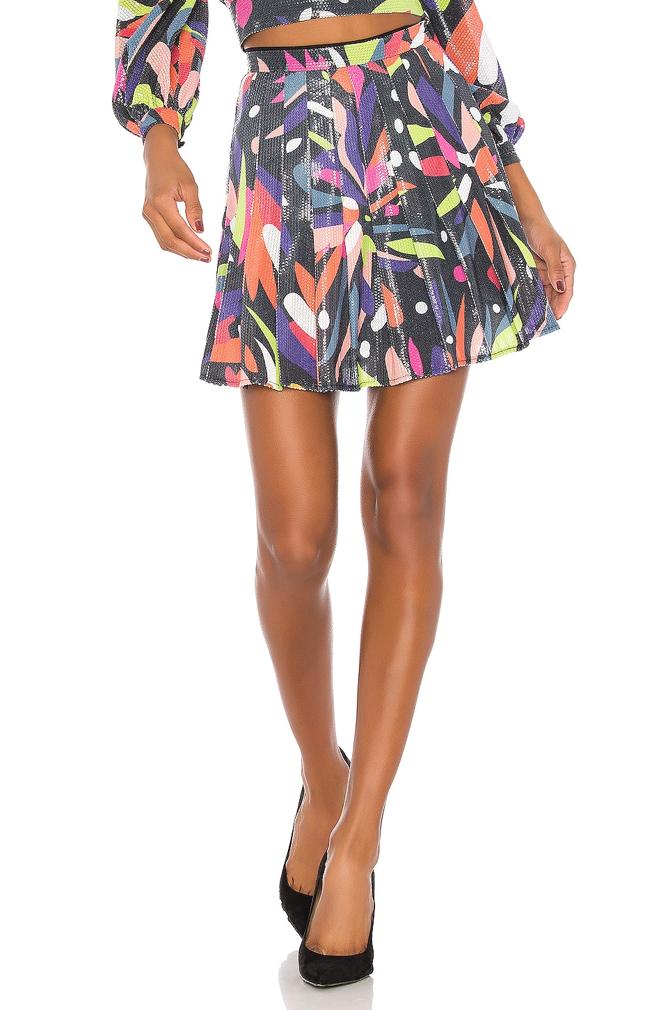 Olivia Rubin Poppy Skirt in Abstract Floral