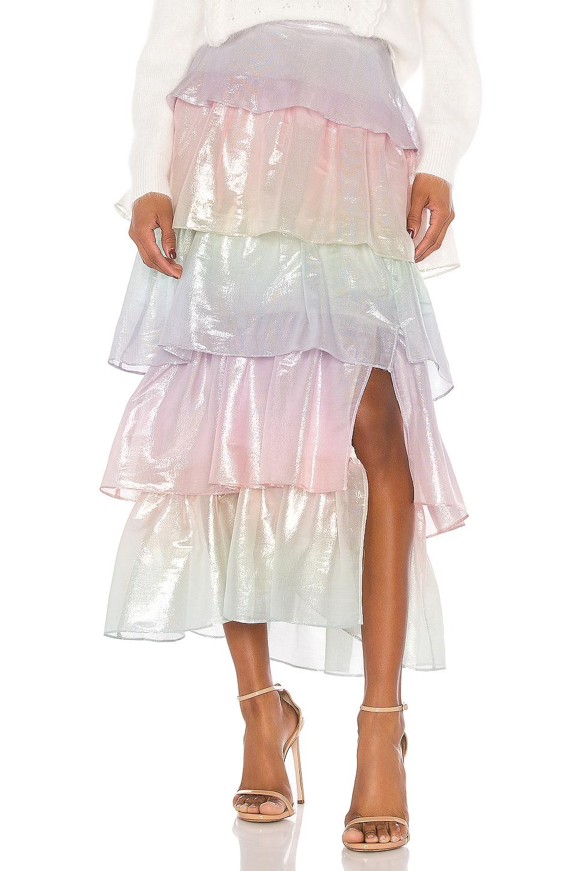 Olivia Rubin Tilly Skirt in Pastel Ombre Metallic