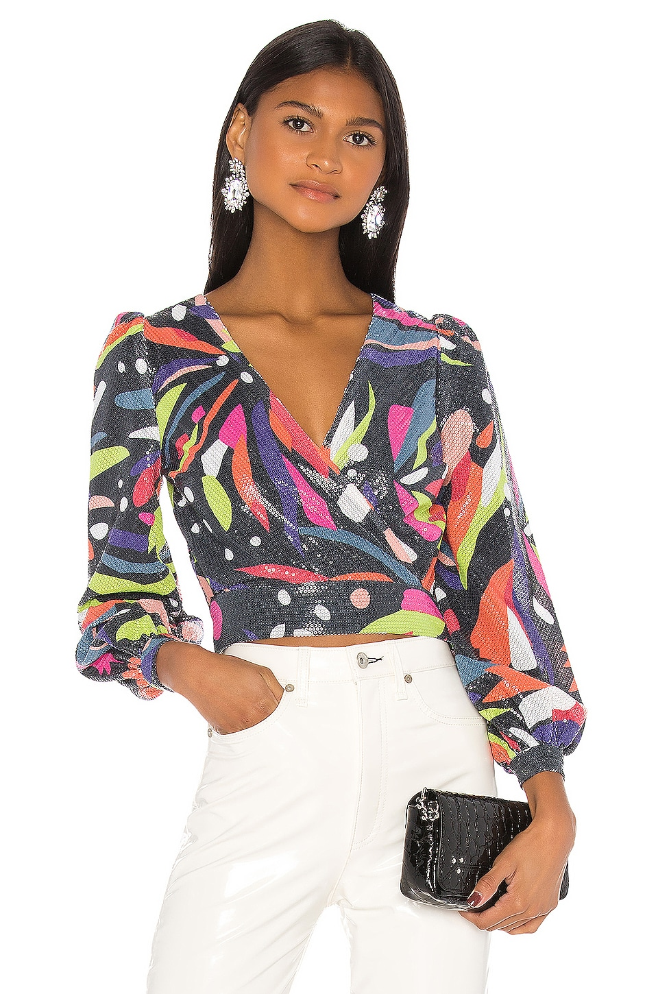 Olivia Rubin Kendall Blouse in Abstract Floral