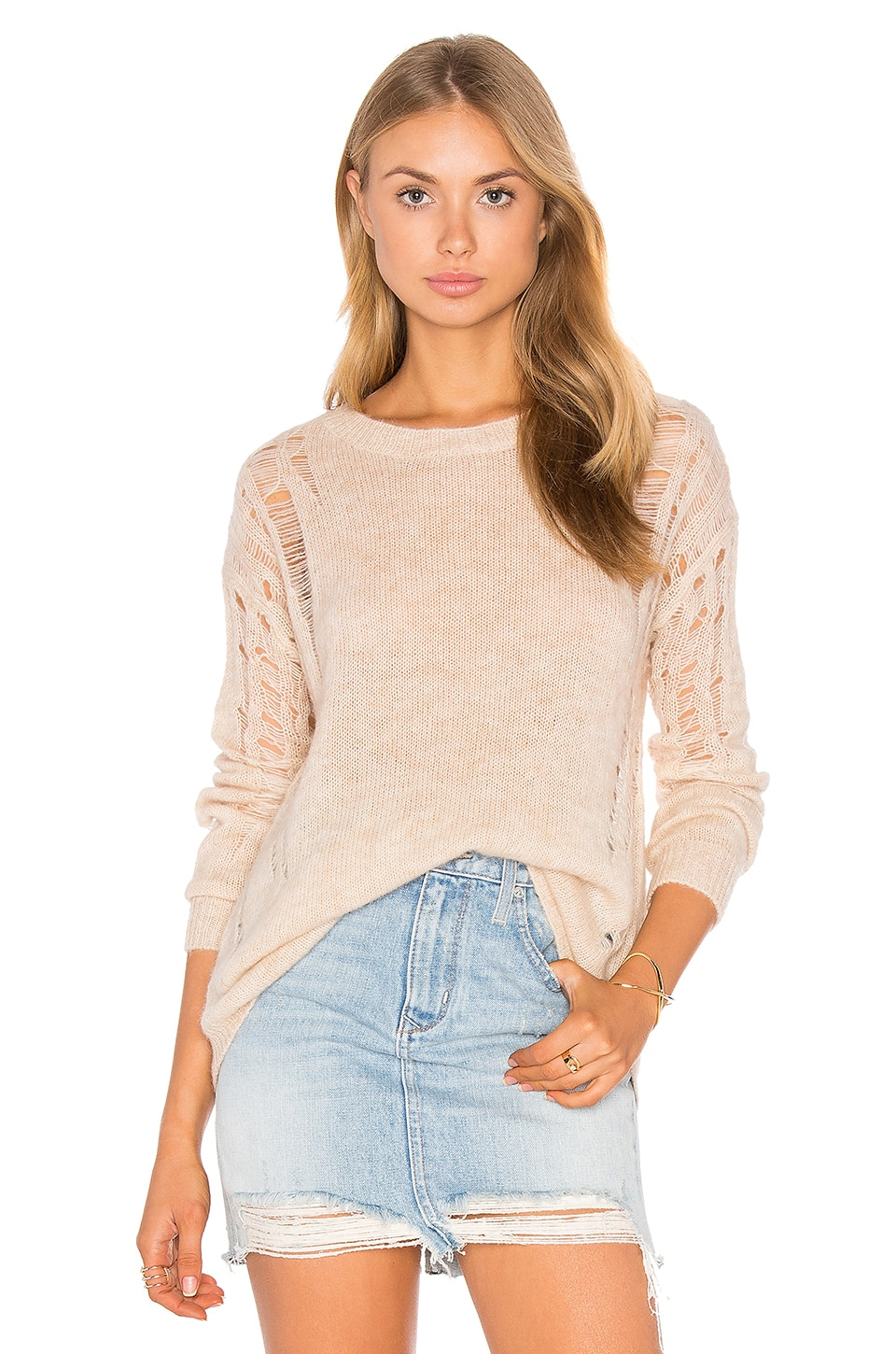 Cora Distressed Sweater by One Grey Day