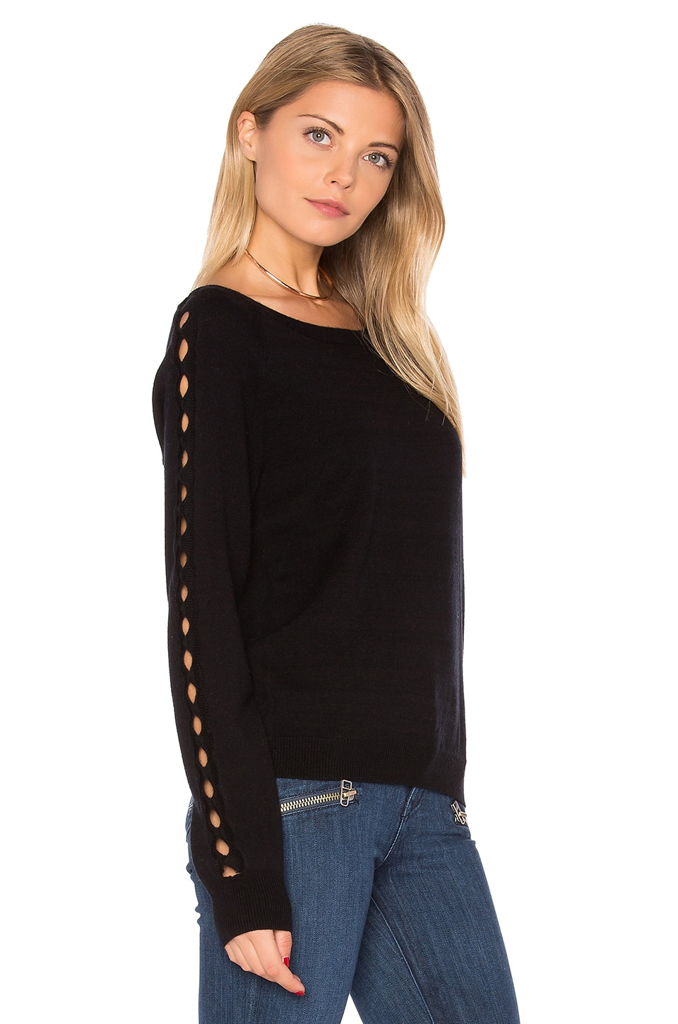 Benson Cut Out Sweater by One Grey Day