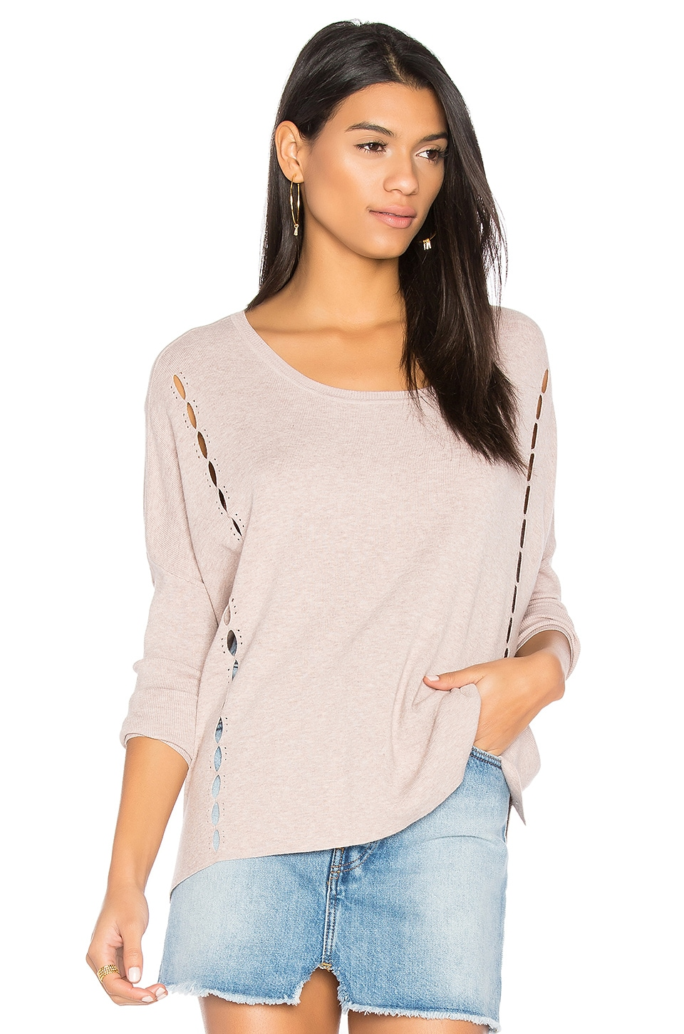 One Grey Day Riri Sweater in Rose