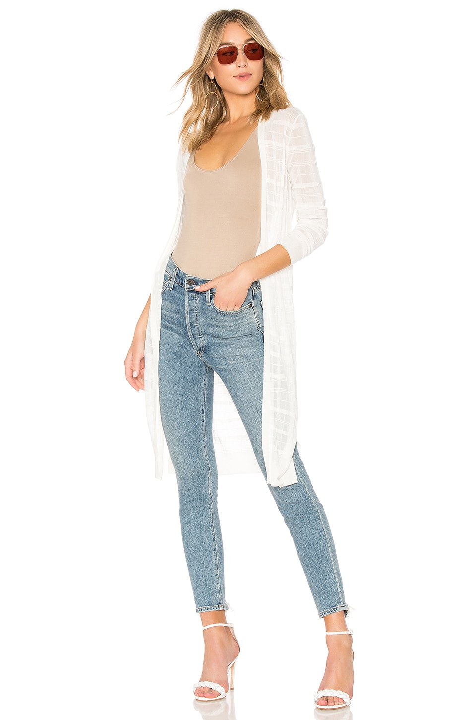 ONE GREY DAY Cress Duster in White